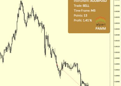 AUDUSD Sell +13 p.